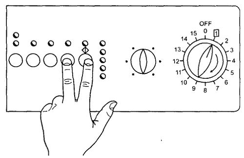 кнопки ввода в тест режим под управлением EWM 1000 (+)