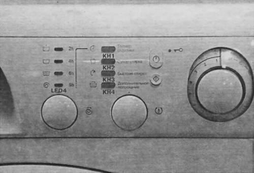 Фото передней панели стиральной машины Аристон