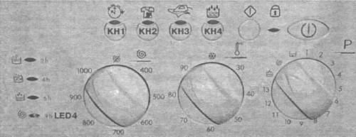 Передняя панель управления стиральной машины indesit