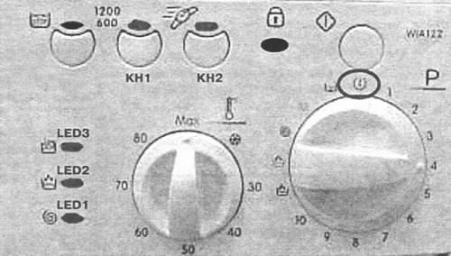 Код ошибки на передней панели стиральной машины Индезит