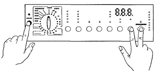 фото ввода стиральной машины Электролюкс в тест режим